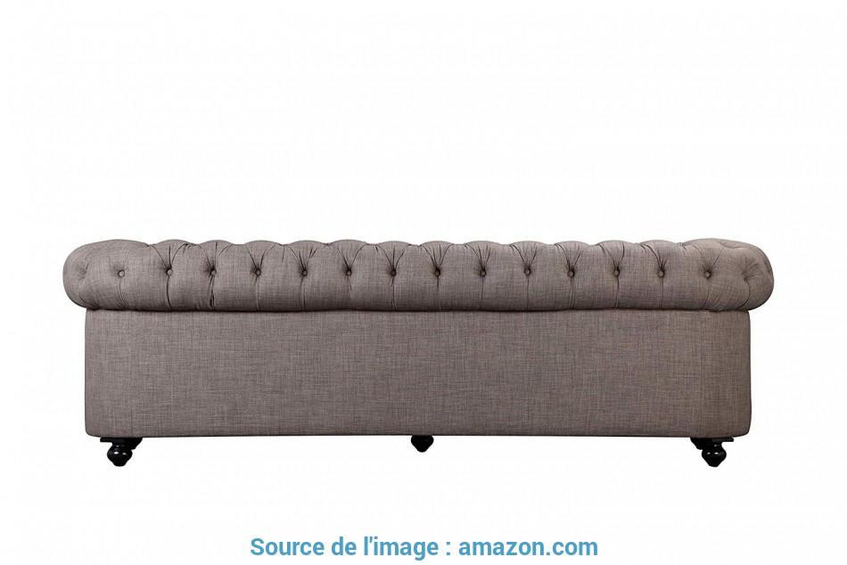Magnifico Amazon.Com: Pangea Home, Z-Chester-3 3 Seater Sofa In Fabric, Brown: Kitchen & Dining