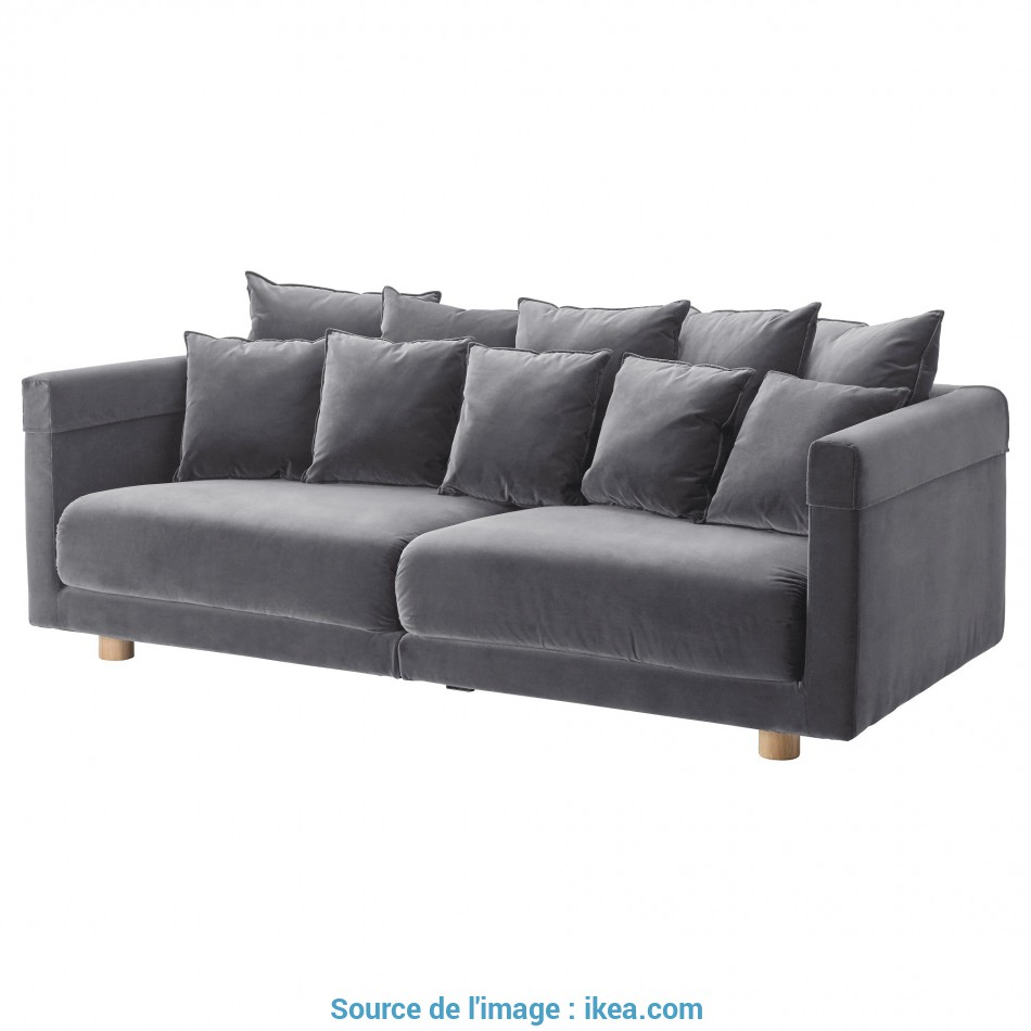 Eccezionale STOCKHOLM 2017 Three-Seat Sofa, Sandbacka Dark Blue