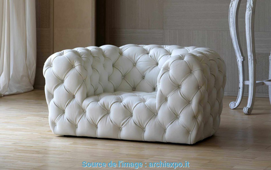 A Buon Mercato Poltrona Chesterfield / In Pelle, CHESTER MOON By Paola Navone