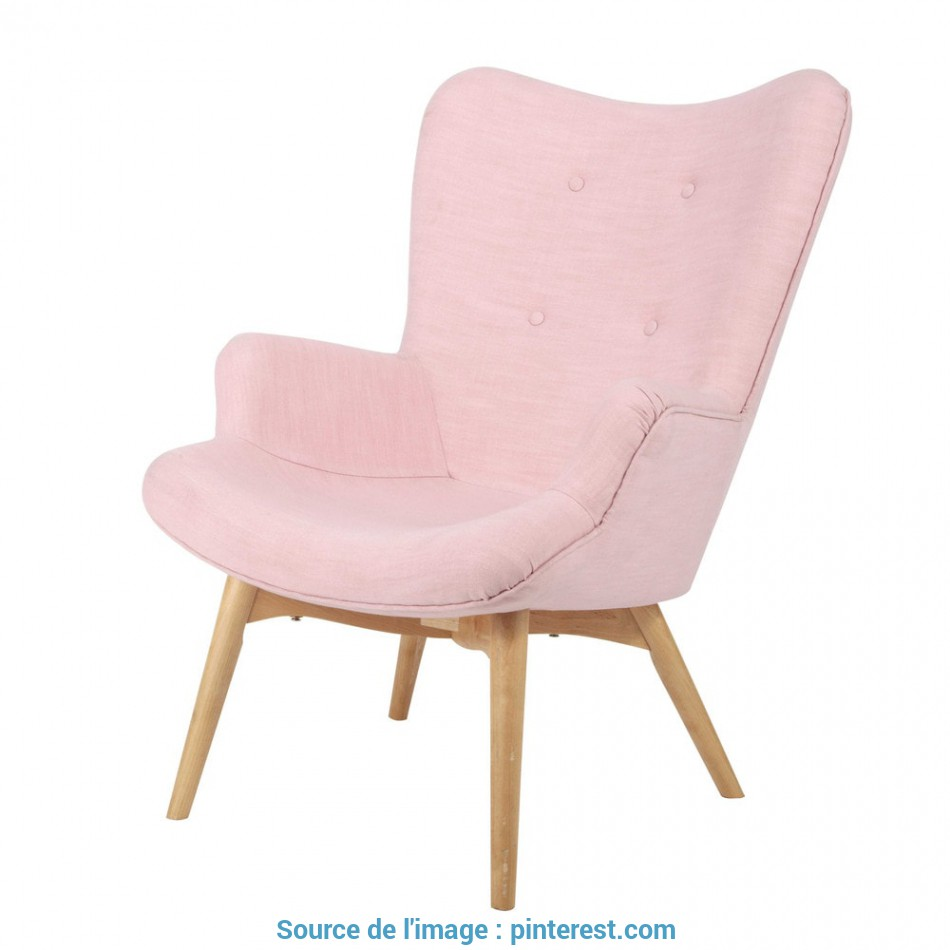 Magnifico Fauteuil Style Scandinave Rose,, Room, Armchair, Room, Decor