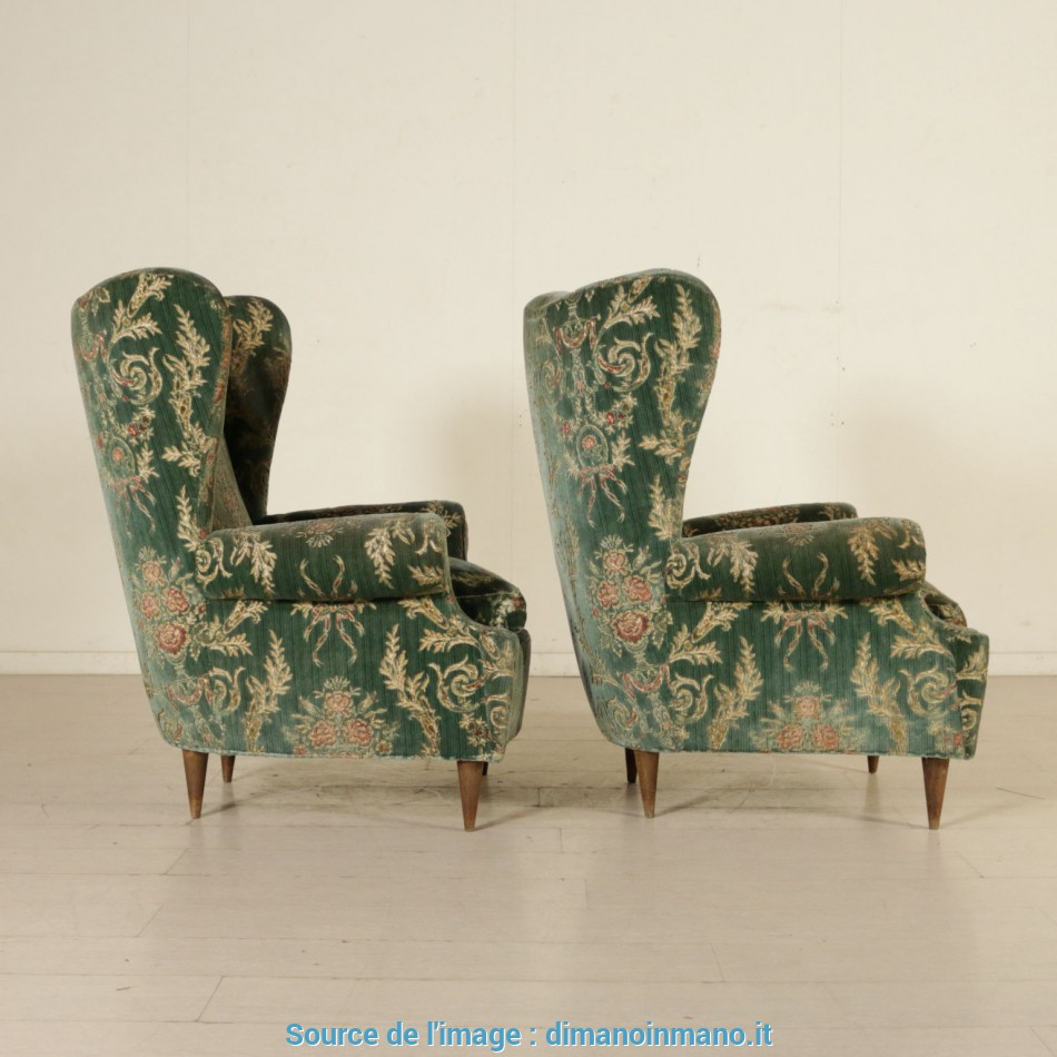 Poltrone Bergere Milano.Semplice Bergere Armchairs Velvet Upholstery Vintage Italy