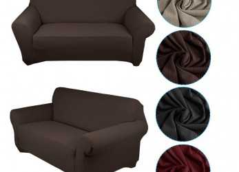 Meraviglioso Auralum® Stretch Fabric Sofa Cover/Lining Chaise Longue Furnishing Lounge, 1, Seater Sofa Black Copridivano, Posti(140-170CM) Brown [Energy Class A