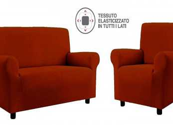 Ideale Copridivani Copripoltrone Easy Copridivano 4 Posti Arancio: Amazon.Co.Uk: Kitchen & Home