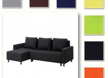 Eccezionale Custom Made Cover Fits IKEA LUGNVIK Sofa, With Chaise, Hidabed Cover, EBay