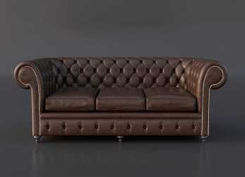 Fantastico FREE Chesterfield Couch 3D Model On Behance