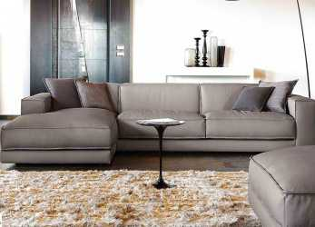 Magnifico Design Sofa With Leather Penisola