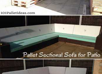 Minimalista DIY #Pallet Sectional #Sofa, Patio, Self-Installed 8-10 Seater, 1001 Pallet Ideas