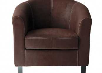 Lussuoso Microsuede Armchair In Brown Baltimore