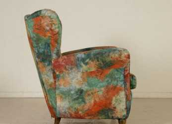 Stupefacente Bergere Armchair Springs Foam Padding Vintage Italy 1950S-1960S
