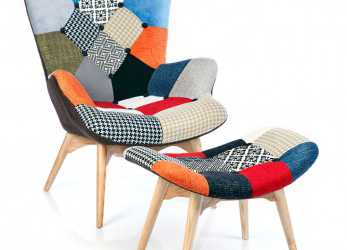 Unico Fauteuil Featherston Patchwork, Chairs, Armchair, Patchwork