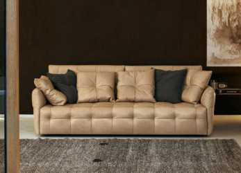Bello Contemporary Sofa / Leather / 2-Person / 3-Seater, DUVET