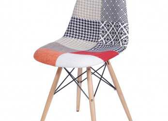 Esotico Cadeira Eames Patch Work Base Madeira, 25242, SunHouse