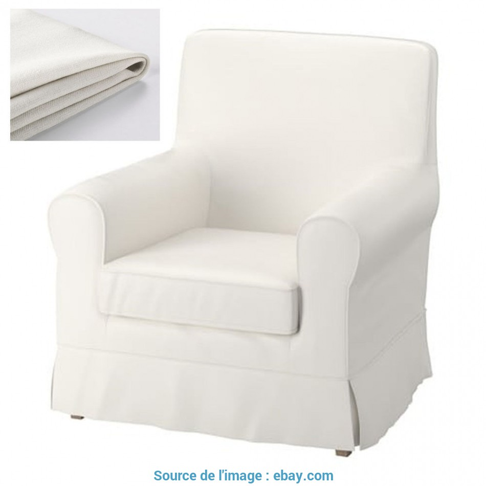 Lussuoso Details About IKEA Ektorp Jennylund Armchair Slipcover STENASA WHITE Off-White Chair Cover
