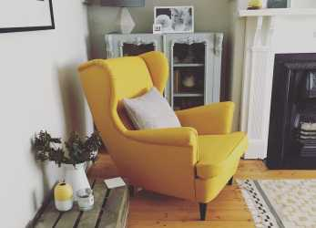 Esotico Strandmon Chair IKEA. Love This Yellow Beauty., Living Room 2 In