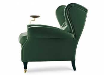 Bello 1919 Wingchair With Plate By Poltrona Frau, Home Decor