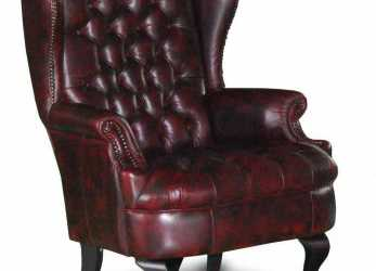 Superiore Chesterfield Queen Anne Wing Chair Antique Blue, Home, Pinterest, Leather Living Room Furniture, Wingback Armchair, Leather Furniture