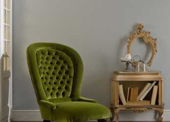 Migliore Traditional Armchair / Velvet / High-Back / Green, POLTRONA CLASSICA