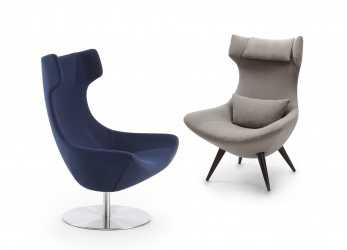 Elegante Olivia Retro Swivel Armchair Matched With, Version With Four Legs