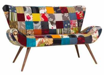 Perfezionare Sofá Flor Patchwork 2 Lugares, Tommy Design