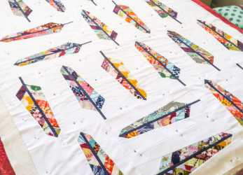 Ideale Feather Cutting Tutorial + Giveaway!, Quilting Obsession, Quilts