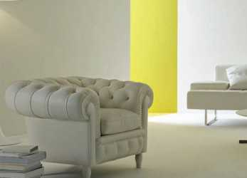 Speciale Poltrona Chesterfield / In Pelle / Nera / Grigia, CHESTER By Renzo Frau