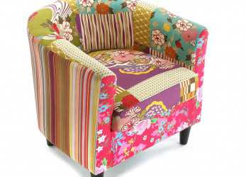 Esotico Versa, Armchair Patchwork: Amazon.Co.Uk: Kitchen & Home, Extension, Accent Chairs, Armchair,, Chair