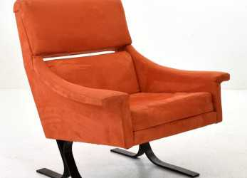 Superiore Poltrona Design 50 Steel Armchair By Busnelli Export Meda 1,400.00