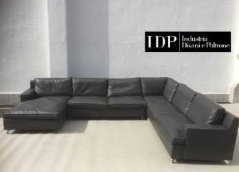 Confortevole Italy Made, Company Manufactured Total Leather Sofa Down Cushion, Character Type 4 Point